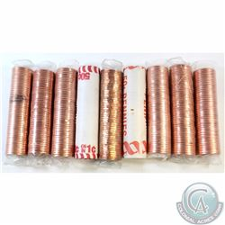 Estate Lot of 9x Canada 1-cent Original Rolls of 50pcs. You will receive 1996, 1997, 1999, 2001, 200