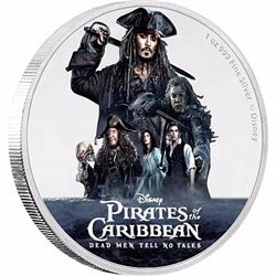 2017 Niue $2 Disney - Pirates of the Caribbean Silver Proof (No Tax)
