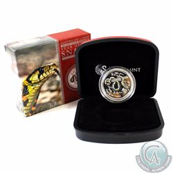 2013 Australia $1 Year of the Snake 1/2oz Fine Silver Black & Yellow Coloured Coin (TAX Exempt)