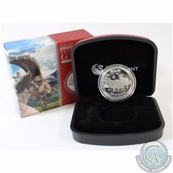 2015 Australia $1 Lunar Year of the Goat 1/2 oz. Fine Silver Proof Coin (Capsule is scuffed). TAX Ex