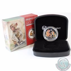 2016 Australia 50-cent Year of the Monkey Coloured Fine Silver Proof Coin (TAX Exempt)