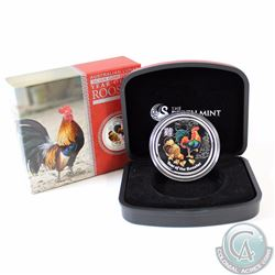 2017 Australia $1 Lunar Year of the Rooster Coloured Silver Proof Coin (TAX Exempt)