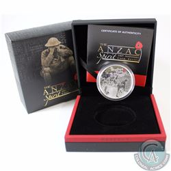 2016 Australia $1 ANZAC Spirit Be Worthy of Them 1oz Fine Silver Proof Coin (TAX Exempt)