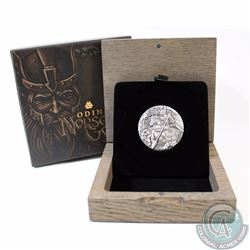 2016 Tuvalu $2 Norse Gods - Odin 2oz High Relief Fine Silver Coin (TAX Exempt)