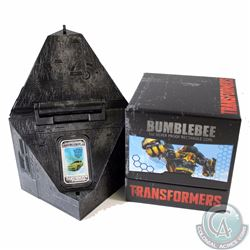 2014 Australia $1 Transformers: Age of Extinction - Bumblebee Fine Silver Bar (TAX Exempt)