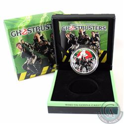 2017 Tuvalu $1 Ghostbusters Crew 1oz. Fine Silver Coloured Coin (TAX Exempt)