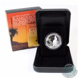 2016 Australia $1 High Relief Kangaroo 1oz Fine Silver Proof Coin (TAX Exempt)