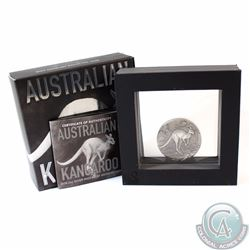 2016 Australia $2 Kangaroo 2oz Antique Finish High Relief Fine Silver Coin (TAX Exempt)
