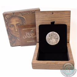 2017 Tuvalu $2 Norse Goddesses - Frigg 2oz Antique High Relief Fine Silver Coin (TAX Exempt)