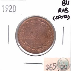 1920 Canada 1-cent BU Red Brown (Spots)