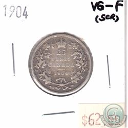 1904 Canada 25-cent VG-F (Scratched)