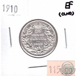 1910 Canada 25-cent EF (Cleaned)