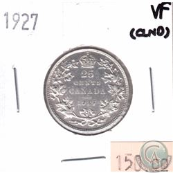 1927 Canada 25-cent VF (Cleaned)