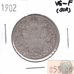 1902 Canada 50-cent VG-F (Scratched)