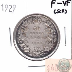 1929 Canada 50-cent F-VF (Scratched)
