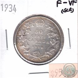 1934 Canada 50-cent F-VF (Scratched)