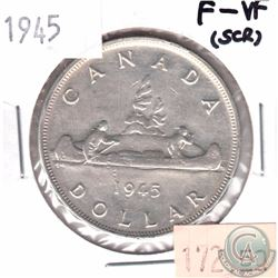 1945 Canada Silver $1 F-VF (Scratched)