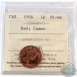 1956 Canada 1-cent ICCS Certified PL-66 Red Cameo