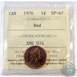 1976 Canada 1-cent ICCS Certified SP-67 Red