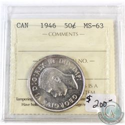 1946 Canada 50-cent ICCS Certified MS-63