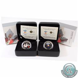 2008 & 2010 Canada Vancouver Olympics Sterling Silver Lucky Loonies in all Original Packaging as wel