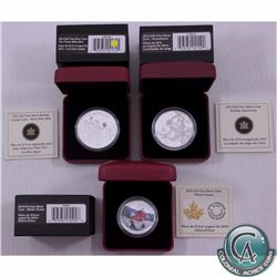 3x 2012-2015 Canada Fine Silver Coins. You will receive the 2012 $20 The Three Wise Men, 2012 $20 Sn