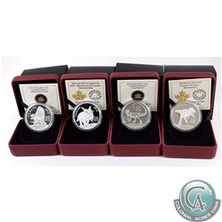Canada 2013-2015 $20 Fine Silver Canadian Dinosaur Series Coins. You will receive the following: 201
