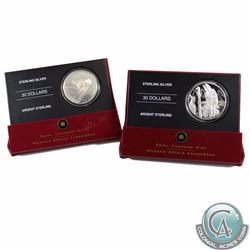 2005 Totem Pole, 2007 Vimy Ridge $30 Sterling Silver Proof Coins & 2013 Charlton Catalogue of Canadi
