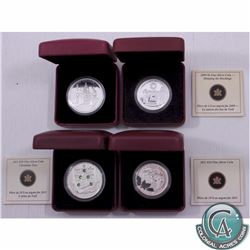 2008-2011 Canada Holiday Themed Coins. This lot includes the 2008 $20 Holiday Carols, 2009 $4 Hangin