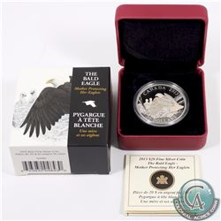 2013 Canada $20 The Bald Eagle (#4) Mother Protecting Her Eaglets Fine Silver Coin (TAX Exempt)