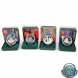4x 1998-2002 Canadian Commemorative Cased Proof Silver Dollars. The dates included in this lot are: