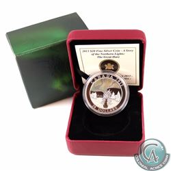 2013 Canada $20 Story of the Northern Lights: The Great Hare Fine Silver Coin (Outer sleeve lightly