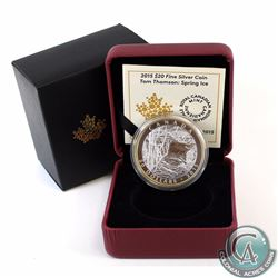 2015 Canada $20 Tom Thomson: Spring Ice Fine Silver Coin with Gold Plating (TAX Exempt).