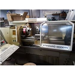 CNC LATHE STANDARD MODERN, 20 INCH Z, MAX BORE 1.5, 8 INCH PNEUMATIC CHUCK, 8 POSITION TURET TOOLS C
