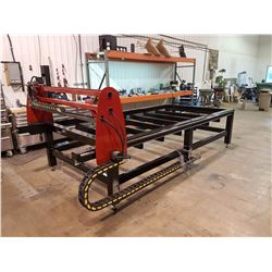 CNC PLASMA CUTTER 5X10, WITH INDUSTRIAL PC BASE CONTROLOR, TORCH HEIGHT CONTROL, 4X4 WELDED FRAME, H