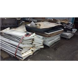 Lot of Metal Punched Holes Shelving(racking)