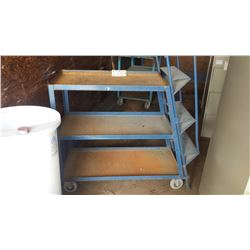 Industrial 3 shelf cart with stairs
