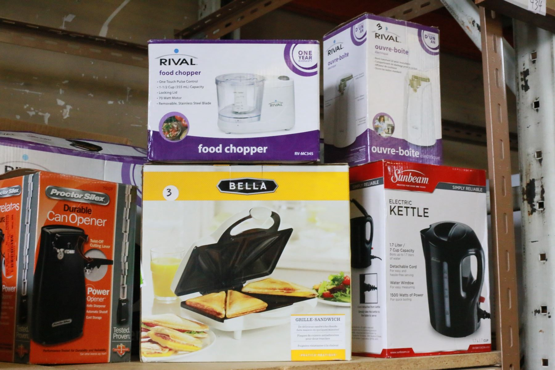 Lot of as new kitchen appliances big valley auction - Big lots kitchen appliances ...