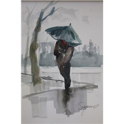 """WALKING IN THE RAIN II"" BY MICHAEL SCHOFIELD"