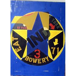 Robert Indiana Oil on Canvas