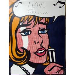 Oil on Canvas Roy Lichtenstein