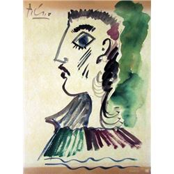 Pablo Picasso Watercolor