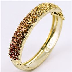 SILVER BANGLE WITH MULTI SAPPHIRE