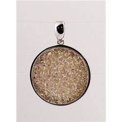 SILVER PENDANT WITH DRUSY