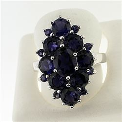 SILVER RING WITH IOLITE