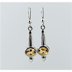 SILVER EARRING WITH CITRENE