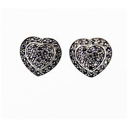 SILVER EARRING WITH IOLITE