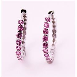 SILVER EARRING WITH PINK TOURMALINE