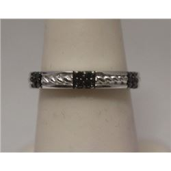 Stunning Black Diamonds Silver Band