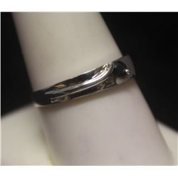 Exquisite Sapphire Silver Band